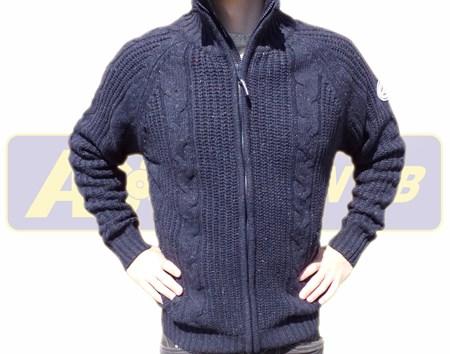 Vindfodrad Cardigan Marinblå M