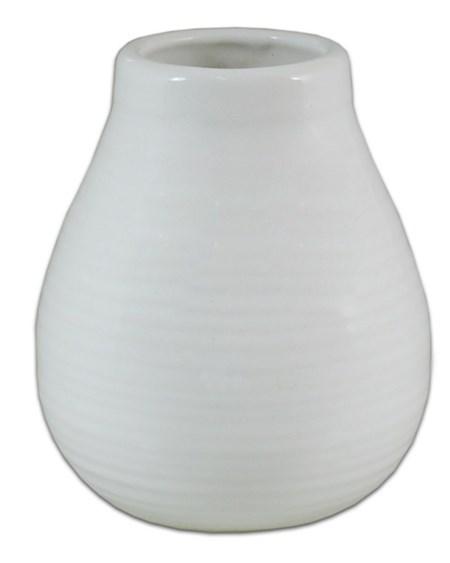 Matekopp i keramik - Vit
