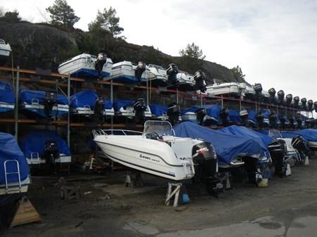 Täckning Båt