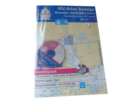 NV-Chart SE 5.1, Västkusten Norra Kombipack Sjökort
