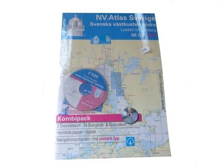 NV-Chart SE 5.2, Västkusten Södra Kombipack Sjökort