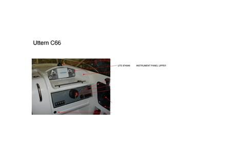 Övre instrumentpanel Uttern C66