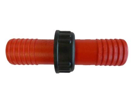 Dubbelnippel Plast 12mm