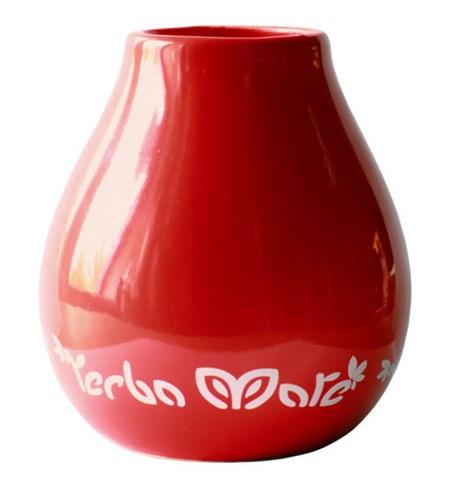 Yerba Mate Kopp - Keramik - Röd - 350 ml