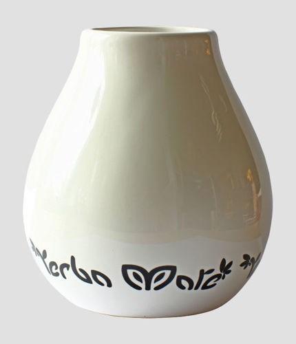 Yerba Mate Kopp - Keramik - Vit - 350 ml