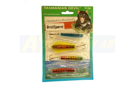 Tasmanian Devil 4-pack Öring & Havsöring 13,5g