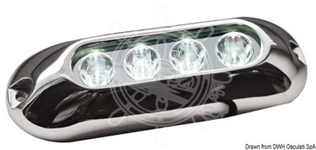 Undervatten 4 LED Vitt