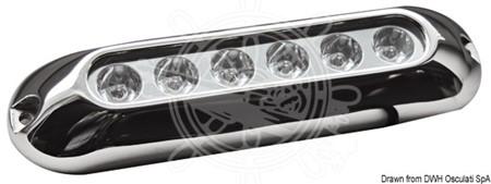 Undervatten 6 LED vitt