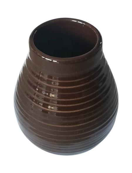 Matekopp i keramik - Brun - 350ml