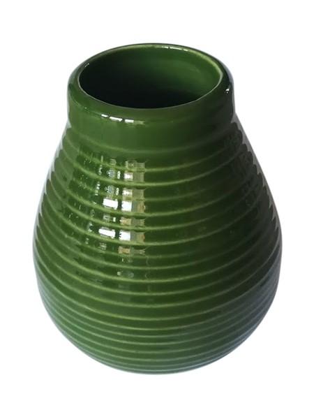 Matekopp i keramik - Grön - 350ml