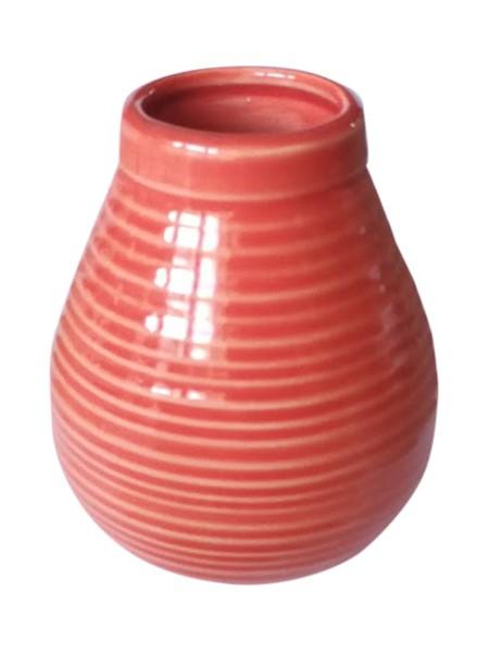 Matekopp i keramik - Röd