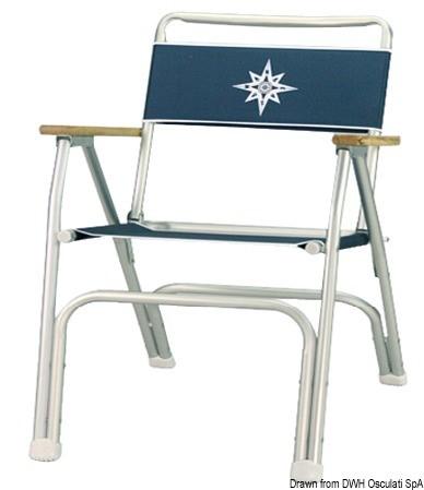 Stol BEACH Blå Alu.
