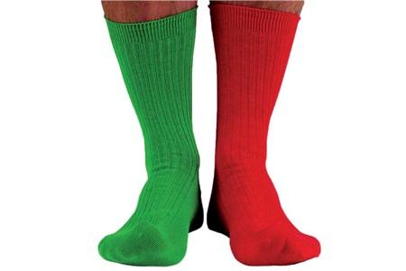 Kaptensstrumpor Röd & Grön