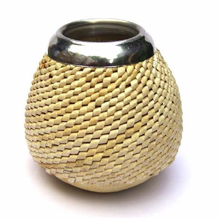 kalebass - Handsydd med metallring