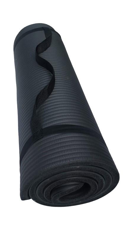 Träningsmatta - Tjock - Svart - 1.5 cm