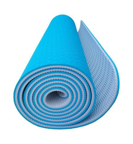 Yoga Matta - TPE - Blå-Grå - 6 mm