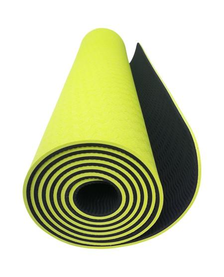 Yoga Matta - TPE - Grön-Svart - 6 mm