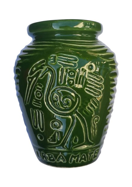 Keramikkopp - Inca - Grön