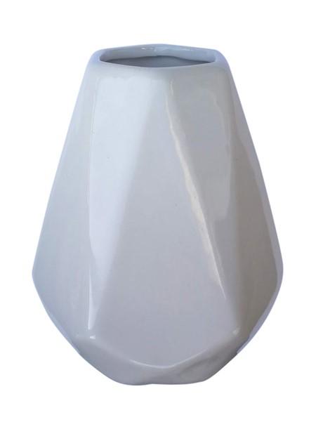 Matekopp i keramik - Diamant - Vit