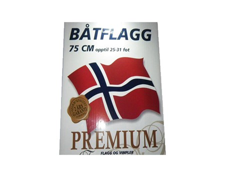 Norsk Båtflagga 75cm