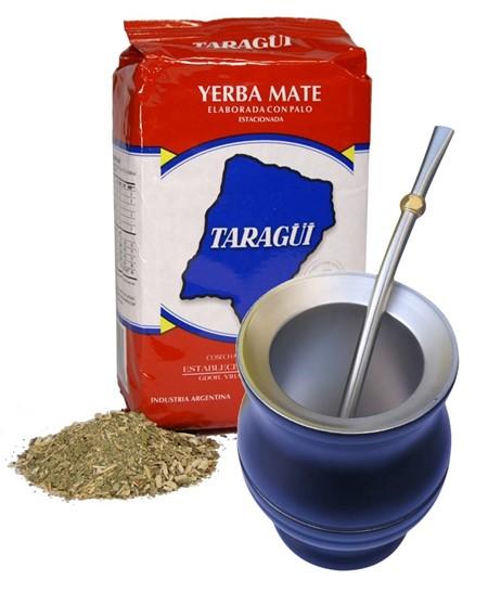 Yerba Mate - Taragui- Startkit - Stålkopp