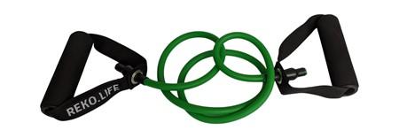Träningsband med handtag  - 6*10*1200 mm  - Grön- 10 kg