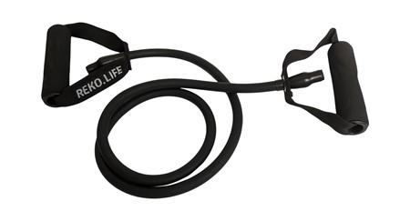 Träningsband med handtag  - 6*11*1200 mm  - Svart - 15 kg