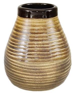 Matekopp i keramik - brunrand