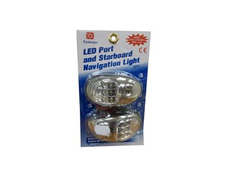 LED Navigationslampor Krom
