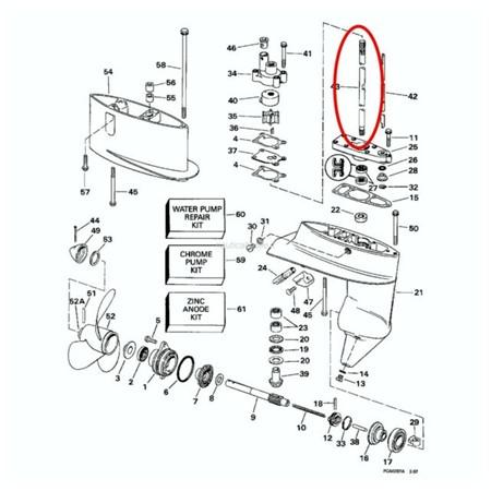 Evinrude/Johnson/OMC Drivaxel 15