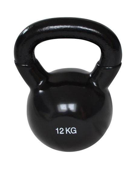 Kettlebell - 12 kg - Svart