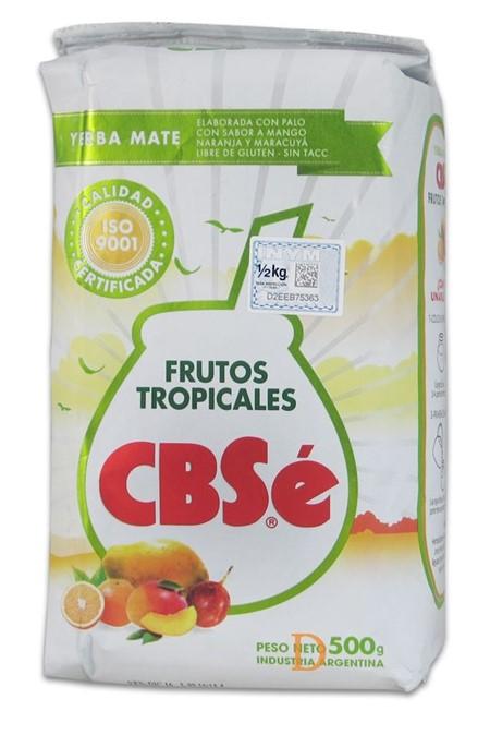 Yerba Mate - CBSé - Tropiska frukter (Mango, Apelsin, Passion) - 500g