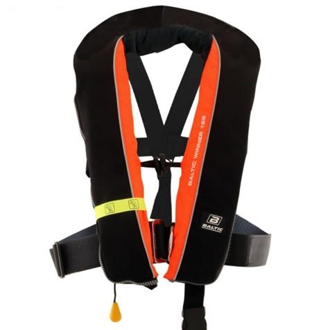 Baltic Winner 165 m/Sele Svart/ fluorescerande Orange - Automatisk Flytväst