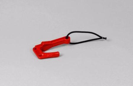 Stängningskrok, 6mm gummilina