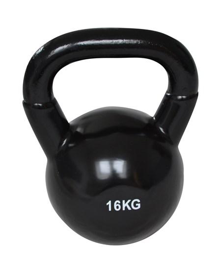 Kettlebell - 16 kg - Svart